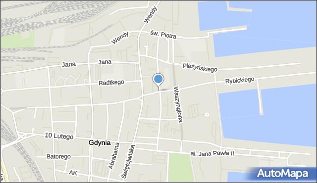 Gdynia, Derdowskiego Hieronima, mapa Gdyni