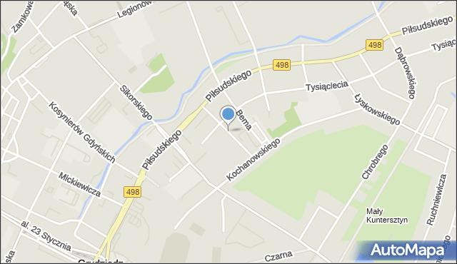 Grudziądz, Derdowskiego, mapa Grudziądza