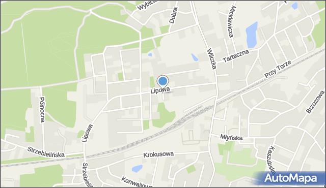Luzino, Derdowskiego, mapa Luzino
