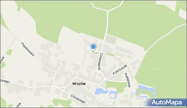 Mrozów, Dębowa, mapa Mrozów