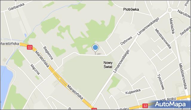 Radom, Dębowa, mapa Radomia