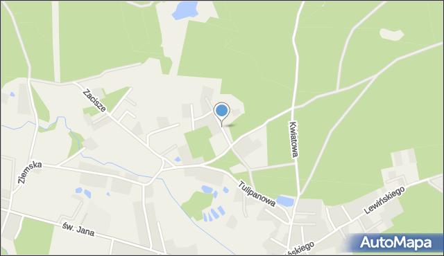 Robakowo gmina Luzino, Dębowa, mapa Robakowo gmina Luzino