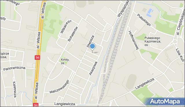Rzeszów, Dębowa, mapa Rzeszów