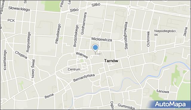 Tarnów, Dębowa, mapa Tarnów