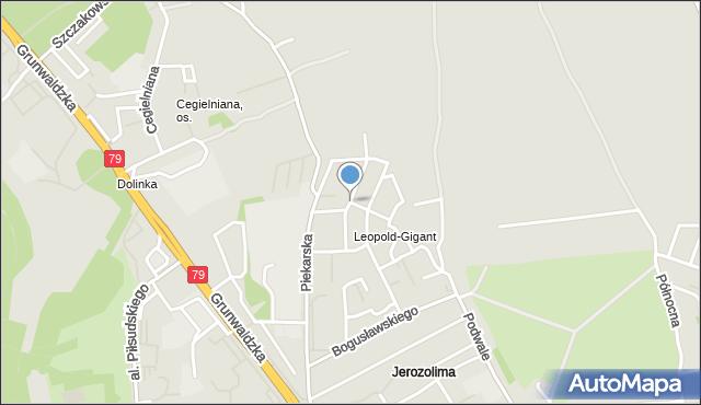 Jaworzno, Diamentowa, mapa Jaworzno