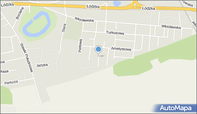 Toruń, Diamentowa, mapa Torunia