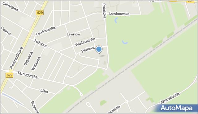 Warszawa, Diamentowa, mapa Warszawy