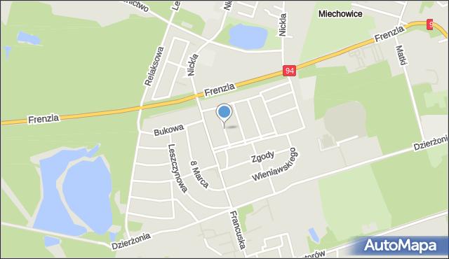 Bytom, Długosza Jana, mapa Bytomia