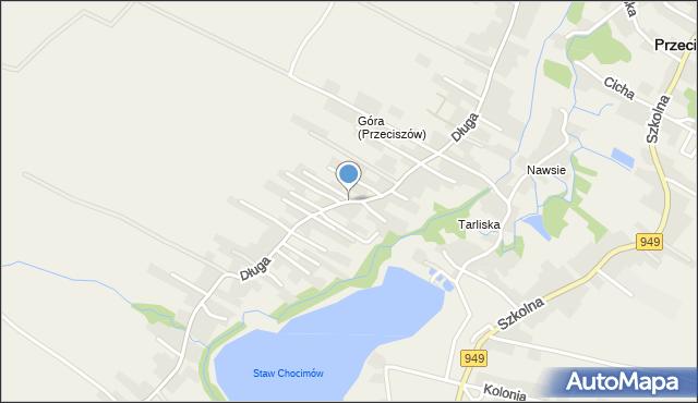 Przeciszów, Długa, mapa Przeciszów