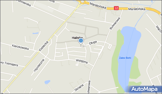 Radom, Długa, mapa Radomia