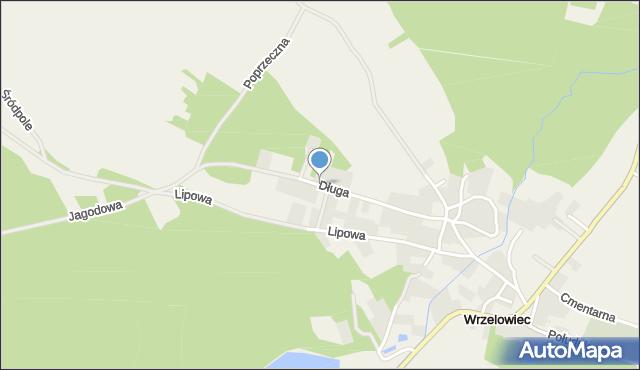 Wrzelowiec, Długa, mapa Wrzelowiec