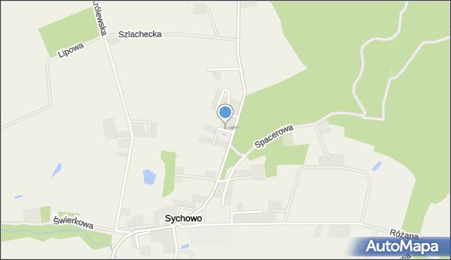 Sychowo, Dmowskiego Romana, mapa Sychowo