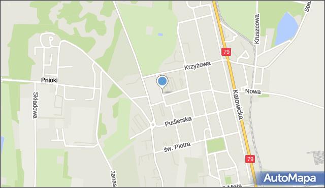 Chorzów, Dombka Pawła, mapa Chorzów