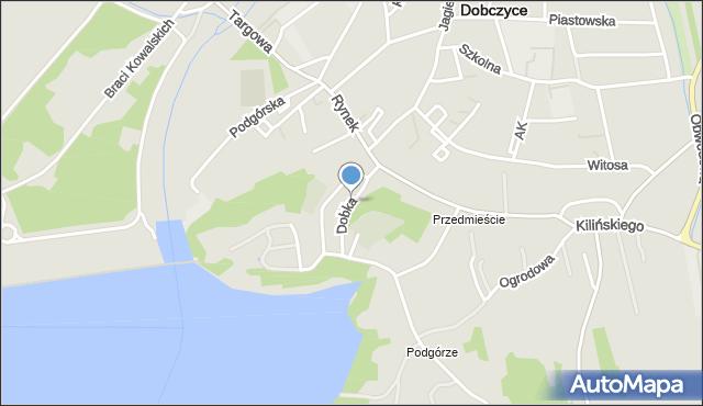 Dobczyce, Dobka, kasztelana, mapa Dobczyce