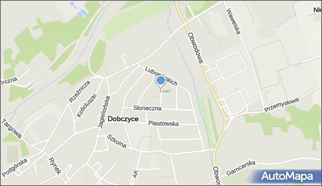 Dobczyce, Dominika Józefa, mapa Dobczyce