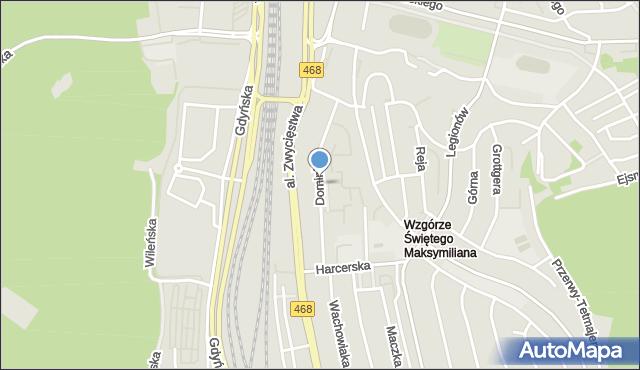 Gdynia, Dominika, bp., mapa Gdyni