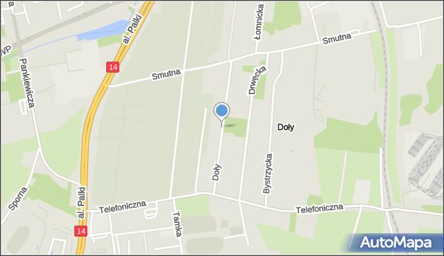 Łódź, Doły, mapa Łodzi