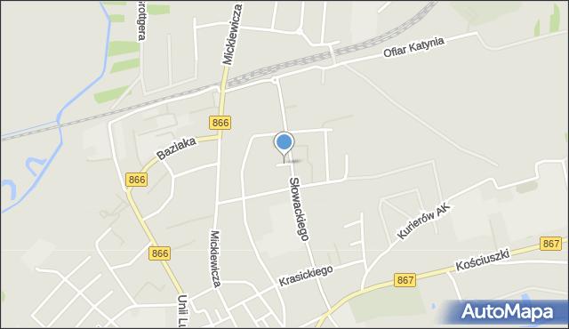 Lubaczów, Dolna, mapa Lubaczów