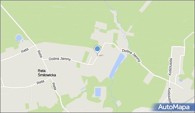 Mikołów, Dolina Jamny, mapa Mikołów