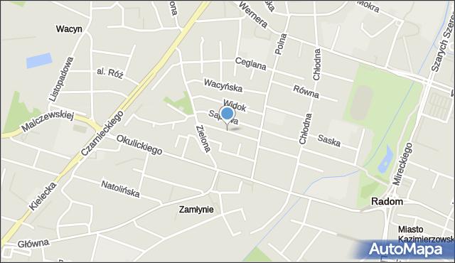 Radom, Dobra, mapa Radomia
