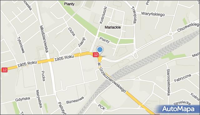 Radom, Dowkontta Andrzeja, mapa Radomia
