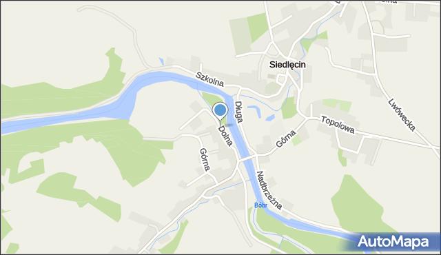 Siedlęcin, Dolna, mapa Siedlęcin
