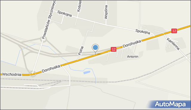 Srebrzyszcze, Dorohuska, mapa Srebrzyszcze