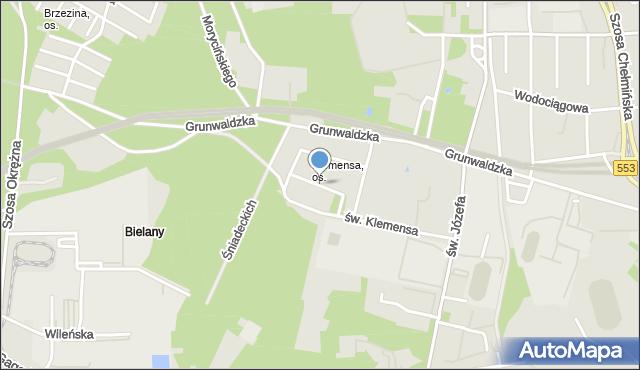 Toruń, Dobra, mapa Torunia