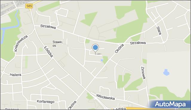 Toruń, Dobrzańskiego-Hubala Henryka, mjr., mapa Torunia