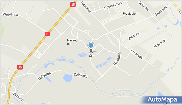 Toruń, Dojazd, mapa Torunia