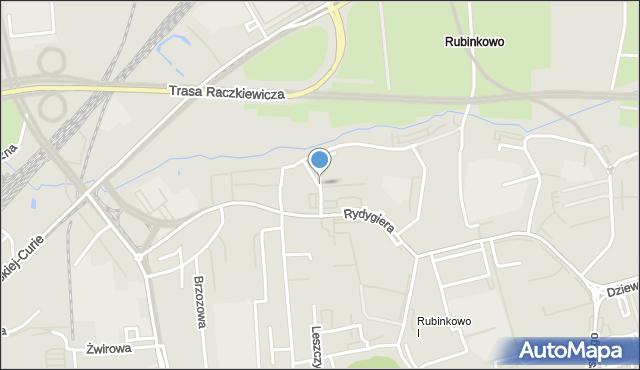 Toruń, Donimirskiego Teodora, mapa Torunia