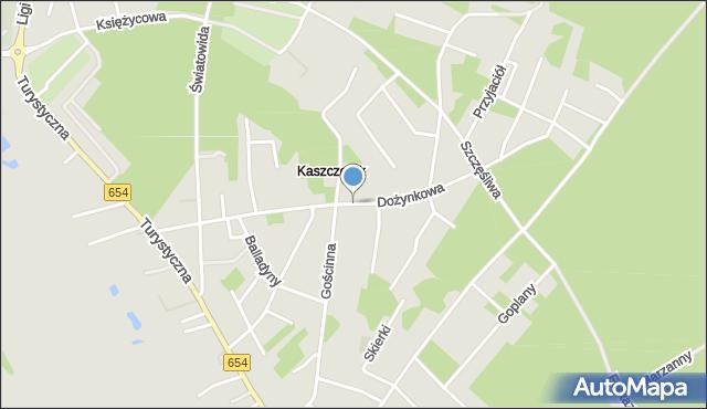 Toruń, Dożynkowa, mapa Torunia