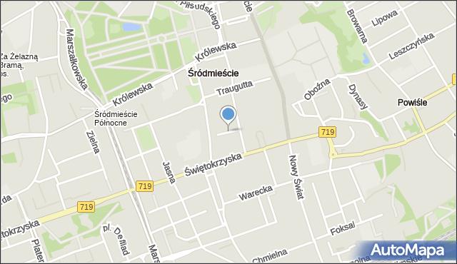 Warszawa, Dowcip, mapa Warszawy
