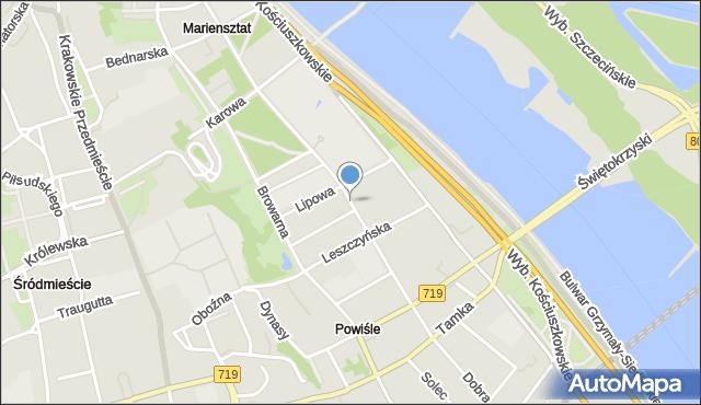 Warszawa, Dobra, mapa Warszawy