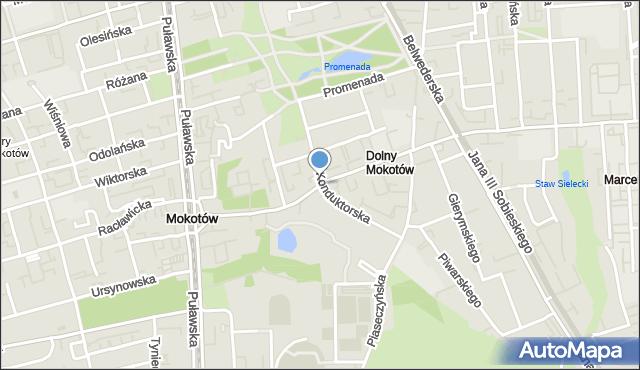 Warszawa, Dolna, mapa Warszawy