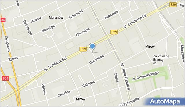 Warszawa, Dobrzańskiego Bronisława, mapa Warszawy