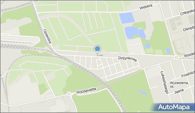 Zabrze, Dożynkowa, mapa Zabrza