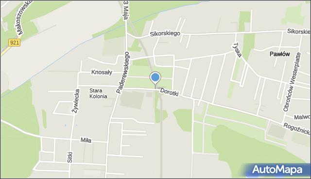 Zabrze, Dorotki, mapa Zabrza