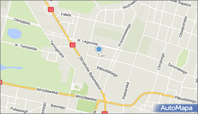 Bytom, Drzymały Michała, mapa Bytomia
