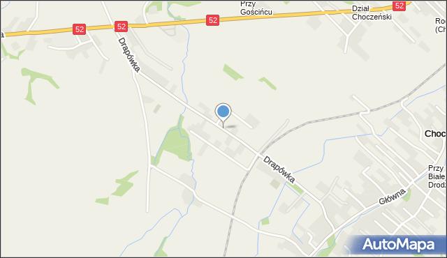 Chocznia, Drapówka, mapa Chocznia
