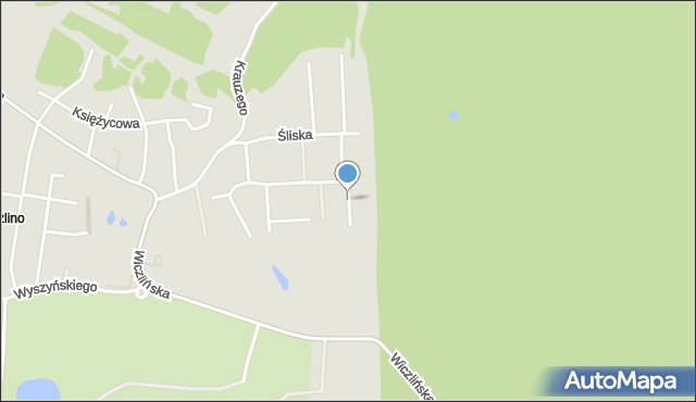 Gdynia, Droga Mleczna, mapa Gdyni