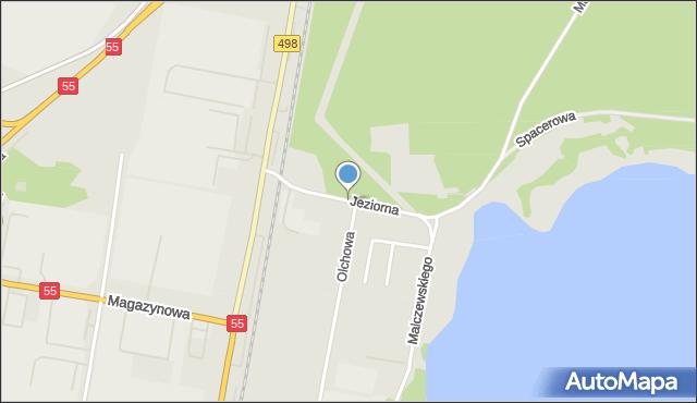 Grudziądz, Droga Jeziorna, mapa Grudziądza