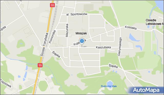 Grudziądz, Droga Kaszubska, mapa Grudziądza