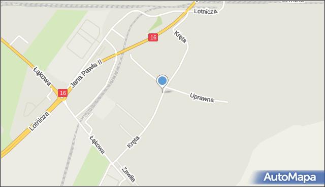 Grudziądz, Droga Kręta, mapa Grudziądza