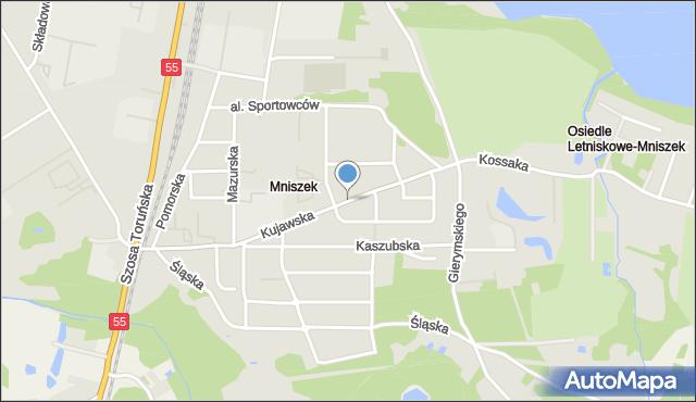 Grudziądz, Droga Kujawska, mapa Grudziądza