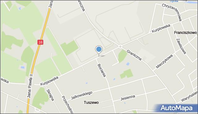Grudziądz, Droga Kurpiowska, mapa Grudziądza