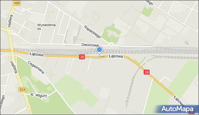 Grudziądz, Droga Łąkowa, mapa Grudziądza