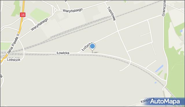 Grudziądz, Droga Łowicka, mapa Grudziądza