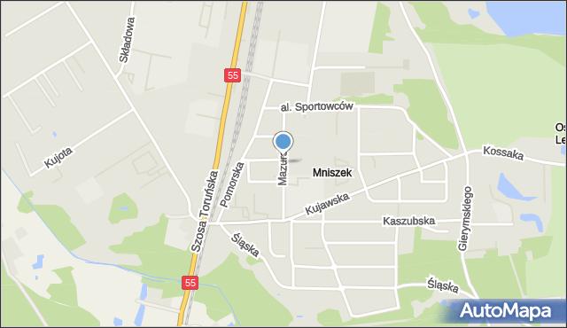 Grudziądz, Droga Mazurska, mapa Grudziądza