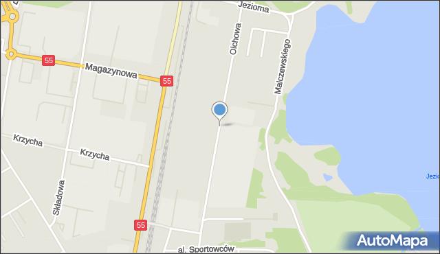 Grudziądz, Droga Olchowa, mapa Grudziądza